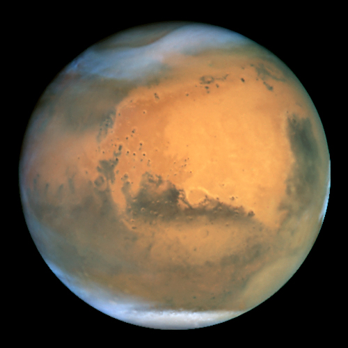 Mars how it appears today, by Hubble Space Telescope
