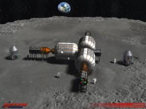 Artist rendering of an inflatable Moon Base. Image Credits: Bigelow Aerospace.