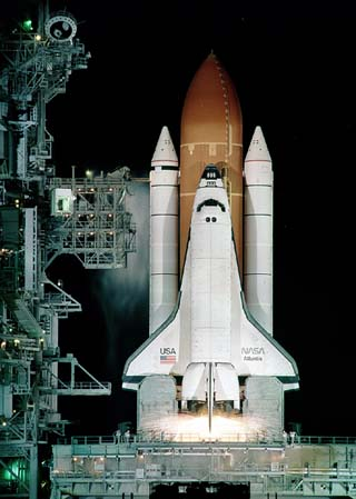 NASA Space Shuttle Before Launch