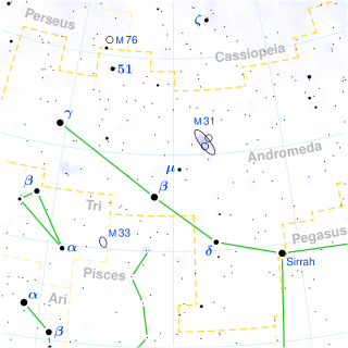 Andromeda Constellation Map