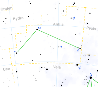 Antlia Constellation Map