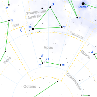 Apus constellation map