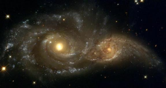 Interacting Spiral Galaxies NGC 2207 and IC 2163