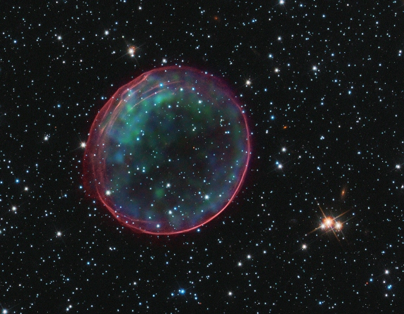 Supernova Remnant Bubble
