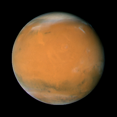 Mars as seen by Hubble Telescope