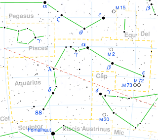 Aquarius constellation map