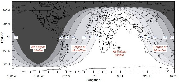 June 15 lunar eclipse map