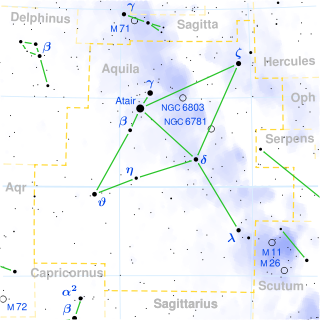 Aquila constellation map