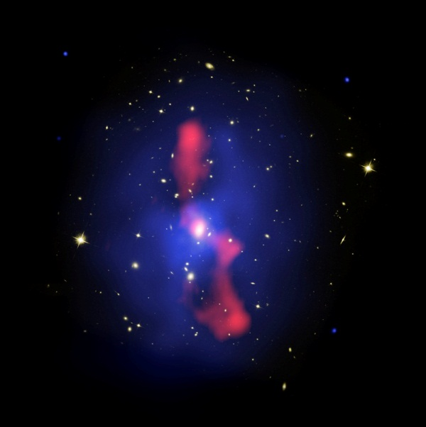 Galaxy Cluster MS 0735 Composite Image by Hubble Space Telescope