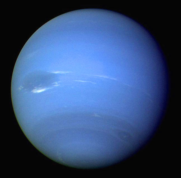 Neptune as seen by Voyager 2