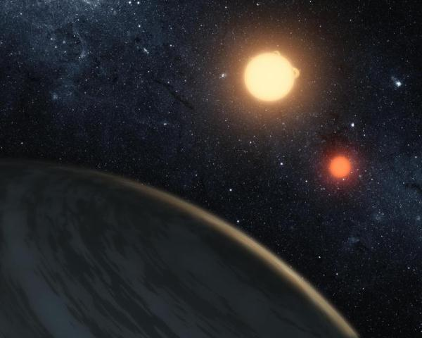 Planetary view of Kepler-16b Tatooine-Like Exoplanet Discovered Orbiting Two Suns