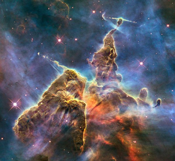 Mystic Mountain in the Carina Nebula by Hubble