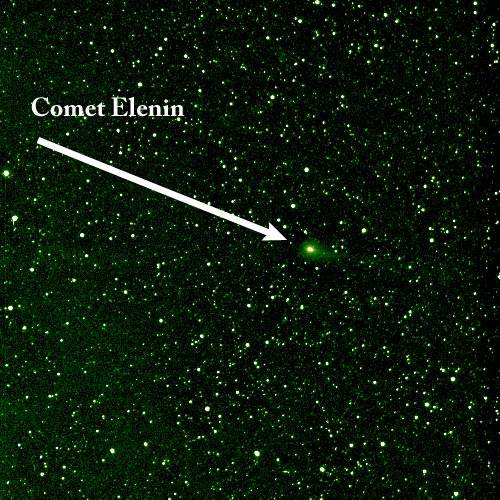 Comet Elenin as seenby the STEREO HI1-B on Aug. 6, 2011