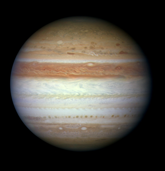 Jupiter as seen by the Hubble Space Telescope