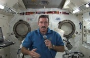 Astronauts 'Deck the Halls' of Space Station