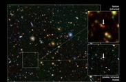 Astronomers Discover Rare Galaxy at Dawn of Time