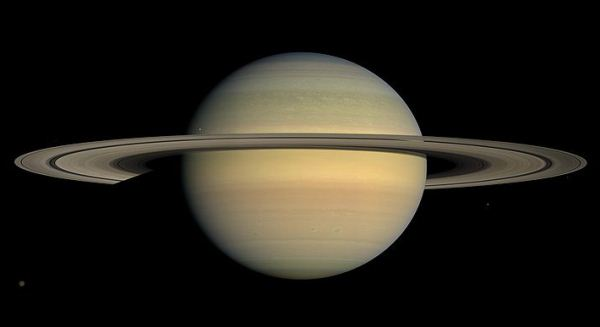 Saturn By Cassini During Equinox 2008