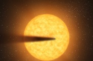 Newfound Exoplanet May Turn to Dust: Planet's Dust Cloud May Explain Strange Patterns of Light from Its Star
