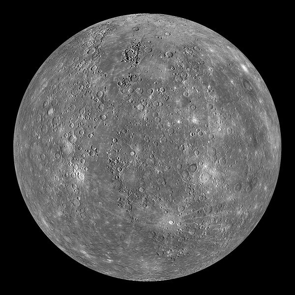 Composite image of Mercury taken by MESSENGER, NASA