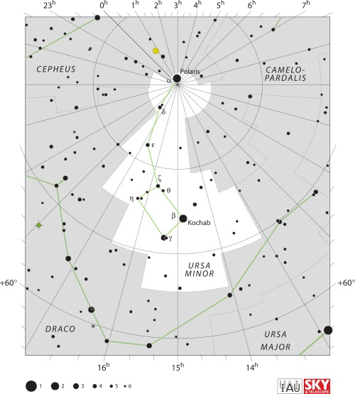 Ursa Minor Constellation Map