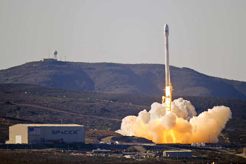 SpaceX Falcon 9 launch photo by U.S. Air Force.