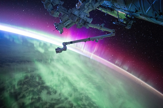 Northern Lights Iss Satellite